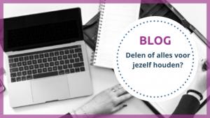 Blog Delen of alles voor jezelf houden?- TopVA - Technisch VA